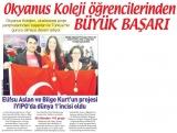Posta Gazetesi - Elifsu Aslan ve Bilge Kurt'un projesi  IYIPO'da Dünya 1'incisi oldu