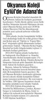 Okyanus Koleji Eylül'de Adana'da - GAZETTE