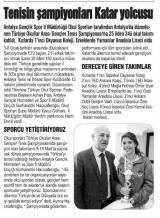 TENİSİN ŞAMPİYONLARI KATAR TOLCUSU - HİLAL