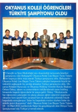 Okyanus Koleji Öğrencileri Türkiye Şampiyonu Oldu