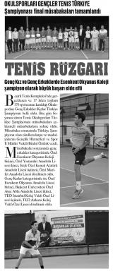 KARADENİZ'DE SON NOKTA - Tenis Rüzgarı