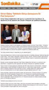 """Orhan Özbey """"İstikbalin Dünya Şampiyonu İle Poz Veriyorum."""" - sondakika.com"""