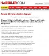 Adana Okyanus Koleji Açılıyor - HABERLER.COM