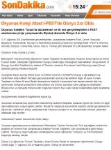 Okyanus Koleji Atast I-FEST'de Dünya 2.si Oldu - SONDAKIKA.COM
