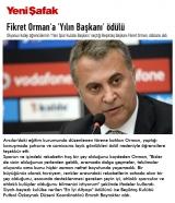 Fikret Orman'a 'Yılın Başkanı' ödülü - YENİSAFAK.COM.TR