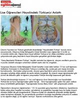 Lise Öğrencileri Hayalindeki Türkiye'yi Anlattı - EGİTİMAJANSİ.COM