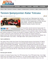 Tenisin Şampiyonları Katar Yolcusu - ANTALYABURDA.COM