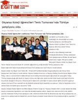 Okyanus Koleji öğrencileri Liselerarası Tenis Turnuvası'nda Türkiye şampiyonu oldu - EGİTİMTERCİHİ.COM