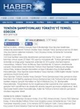 TENİSİN ŞAMPİYONLARI TÜRKİYE'Yİ TEMSİL EDECEK  - HABERX.COM