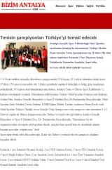 Tenisin şampiyonları Türkiye'yi temsil edecek - BİZİMANTALYA.COM