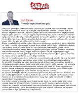 Yeteneğe Dayalı Üniversiteye Giriş - SABAH.COM.TR