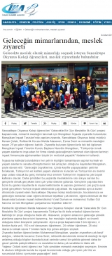 Geleceğin mimarlarından, meslek ziyareti - IHA.COM.TR