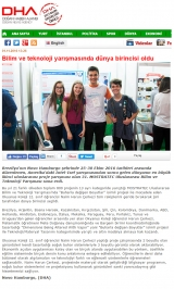 DHA.COM.TR - Bilim ve teknoloji yarışmasında Türk öğrenci dünya birincisi oldu