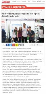 HÜRRİYET.COM.TR - Bilim ve teknoloji yarışmasında Türk öğrenci dünya birincisi oldu
