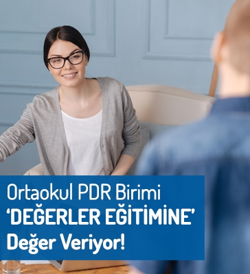 """Ortaokul PDR Birimi """"DEĞERLER EĞİTİMİNE"""" Değer Veriyor!"""