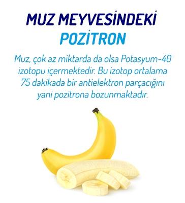 Muz Meyvesindeki Pozitron