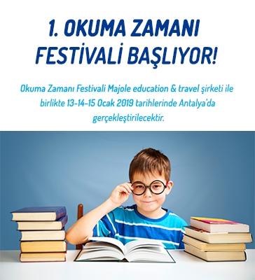 1. Okuma Zamanı Festivali Başlıyor!