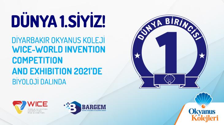 World Invention Competition And Exhibition (WICE) 2021'de Biyoloji Dalında Dünya Birinciliği