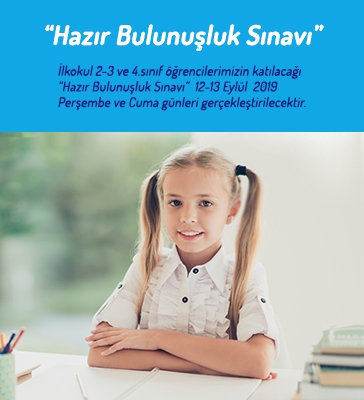 """2-3 ve 4.Sınıf Öğrencilerine Yönelik """"Hazır Bulunuşluk Sınavı"""""""