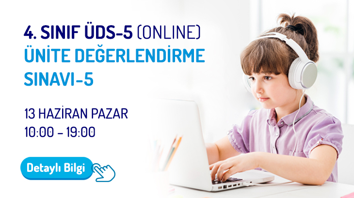 4.Sınıf ÜDS - 5 (Online) Ünite Değerlendirme Sınavı - 5