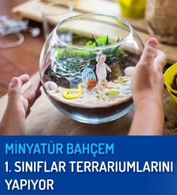 1. Sınıflar Minyatür Bahçelerini Yapıyor