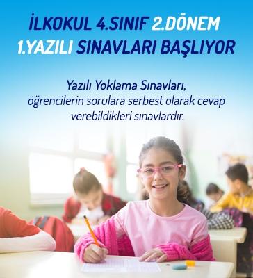 İlkokul 4.Sınıf 2.Dönem 1.Yazılı Sınavları Başlıyor