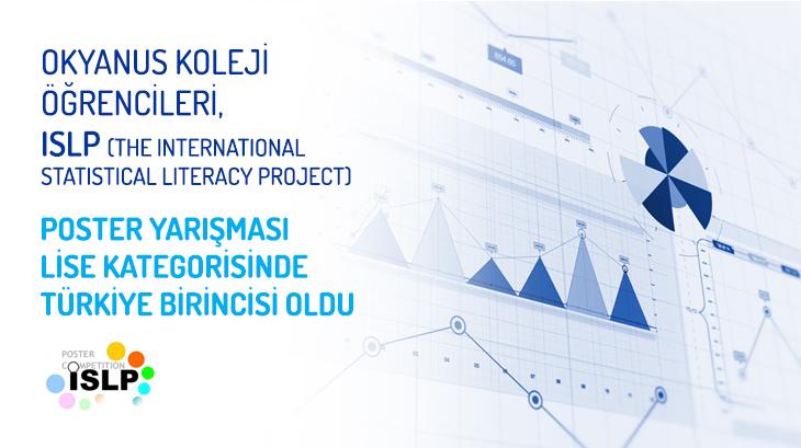 Okyanus Koleji Öğrencileri, ISLP (The International Statistical Literacy Project) Poster Yarışması Lise Kategorisinde Türkiye Birincisi Oldu