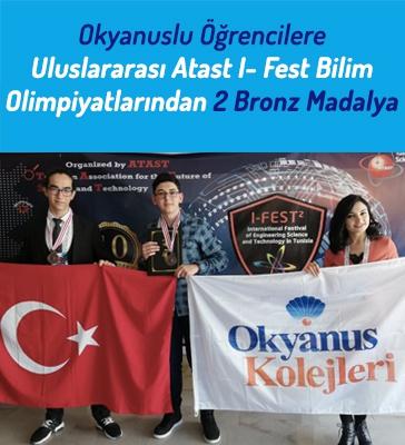 Okyanus Koleji Öğrencileri Tunus I-Fest'de 2 Bronz Madalya Kazandı