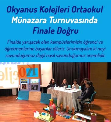 Okyanus Kolejleri Ortaokul Münazara Turnuvasında Finale Doğru