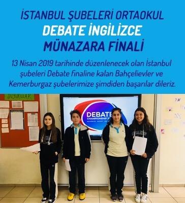 İstanbul Şubeleri Ortaokul Debate (İngilizce Münazara) Finali