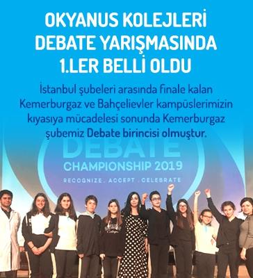 Okyanus Kolejleri Debate yarışmasında 1.ler belli oldu