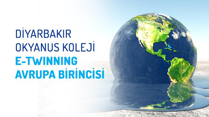 "e-Twinning ""Avrupa Birincisi"" Diyarbakır Okyanus Koleji"