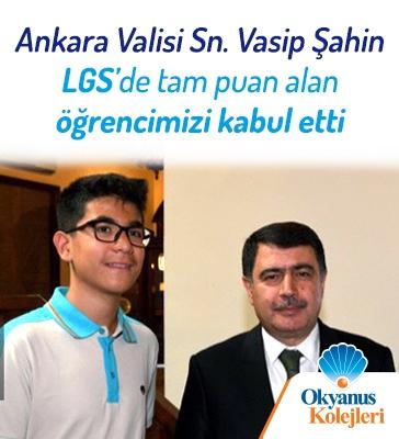 Ankara Valisi Sn. Vasip Şahin, LGS'de Tam Puan Alan Öğrencileri Ödüllendirdi!