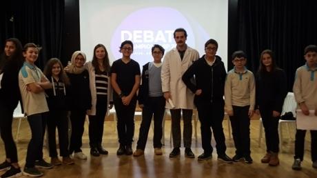 12 Aralık Çarşamba günü Beykent Okyanus Koleji Ortaokul Kademesi 7.Sınıflar Arasında İngilizce Münazara Yarışması Düzenlendi.
