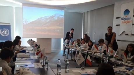 1. O'MUN KIDS Model United Nations (Model Birleşmiş Milletler Konferansı) Dünya'nın Çeşitli Ülkelerinden Öğrencilerin Katılımı Antalya'da Gerçekleşiyor