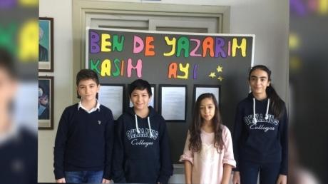 Adana Okyanus Kolejinde Ben de Yazarım Yarışmasında Kasım Ayı Birincileri Belli Oldu.