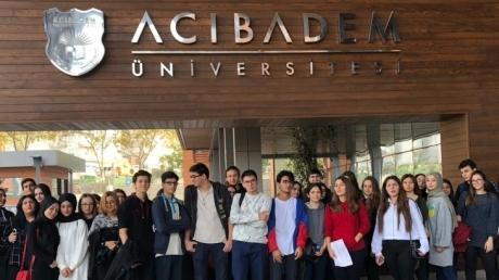 Avcılar Okyanus Koleji Sağlık Kariyer Kulübü Acıbadem Üniversitesinde