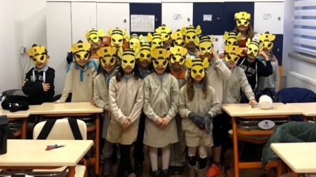 """Bahçelievler Okyanus Koleji 2.sınıf öğrencileri İngilizce Dersinde """"Spelling Bee"""" Yarışmasında"""