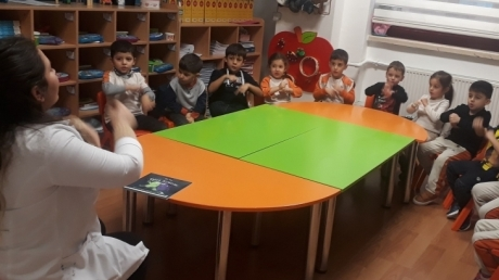 Bahçelievler Okyanus Koleji Okul Öncesi Deniz Yıldızları Grubu Türkçe Etkinliğinde