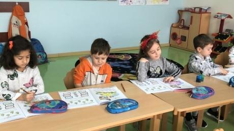Bahçeşehir Gökkuşağı Grubu Okuma Yazma Hazırlık Etkinliğinde