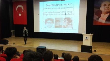 Bornova Okyanus Koleji Ortaokul Kademesinde ''ERGENLİK DÖNEMİ'' Semineri gerçekleştirildi.