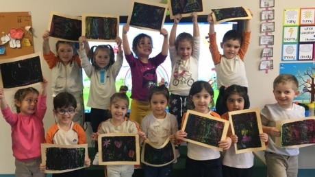 Çekmeköy Okul Öncesi  Balıklar Grubu  Sanat Etkinliğinde