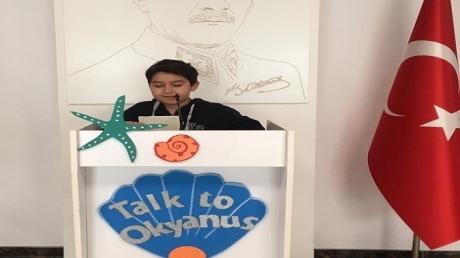 Eryaman Okyanus Koleji Ortaokul Öğrencileri Talk to Okyanus mikrofonuna konuştu.