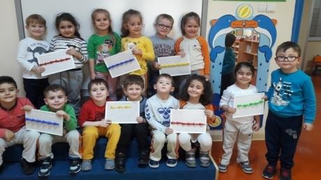 Güneşli Okyanus Koleji Okul Öncesi Yunuslar Grubu Okuma Yazmaya Hazırlık Çalışmasında