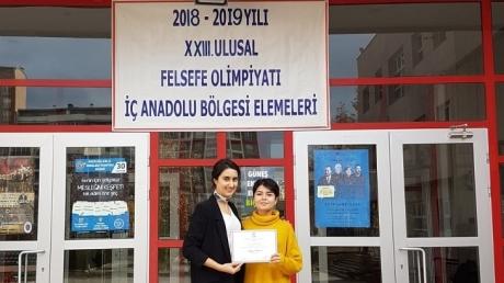 İncek Okyanus Anadolu Lisesi Felsefe Olimpiyatları'nda