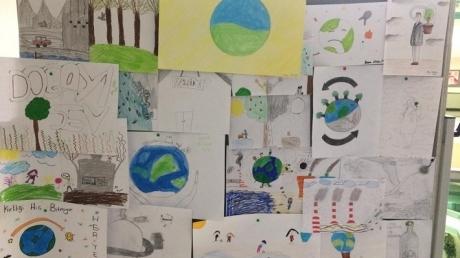 """İncek Okyanus Koleji Eko - Okul İş Birliğinde """"Atıklar ve Çevre Kirliliği Konulu Yazma - Çizme"""" Yarışması Düzenlendi"""