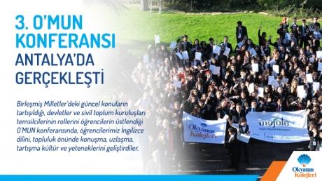 O'MUN Konferansının 3.sü Antalya Akra Barut Otelde Gerçekleşti