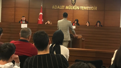 Sancaktepe Okyanus Koleji Hukuk Kariyer Kulübü Öğrencileri ''Kurgusal Dava'' Etkinliğine Katıldılar