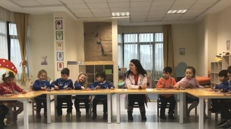 Sancaktepe Okyanus Koleji Okul Öncesi Deniz Yıldızı Grubu Öğrencileri Sanat Etkinliğinde