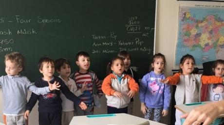 Sancaktepe Okyanus Koleji Okul Öncesi Güneş Grubu Öğrencileri Müzik Dersinde
